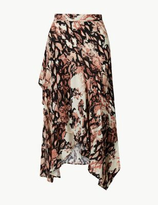 Marks and Spencer Animal Print Wrap Style Skirt