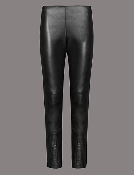 Leather Ponte Skinny Leggings