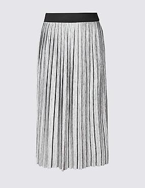 CURVE Pleated Maxi Skirt
