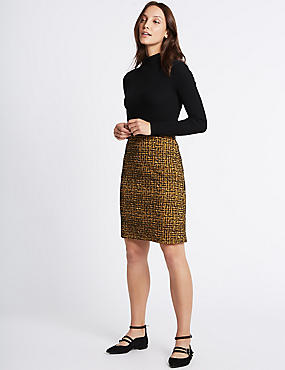 Printed A-Line Mini Skirt