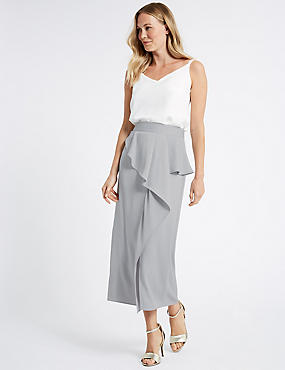 Frill Maxi Skirt