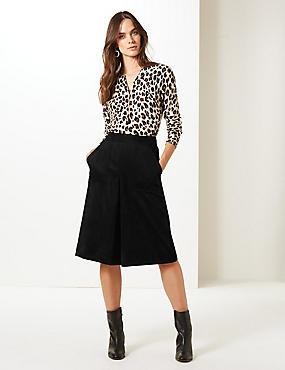 A-Line Midi Skirt