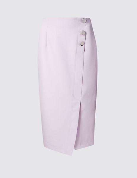 ebd1fa204d1 Product images. Skip Carousel. Button Detail Pencil Skirt