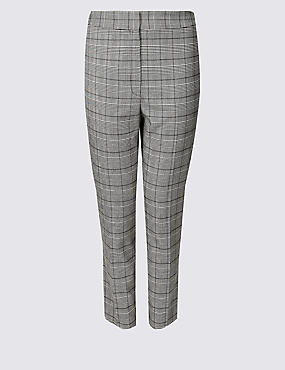 CURVE Checked Slim Leg Trousers