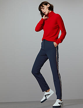 Side Stripe Slim Leg Trousers