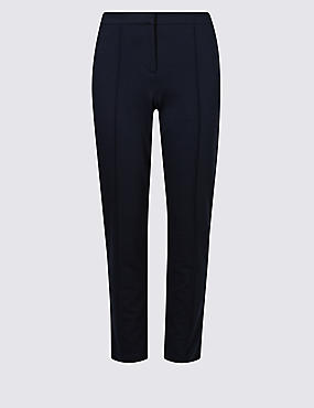 Slim Leg Flat Front Trousers