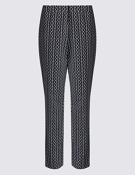Dash Print Slim Leg Trousers