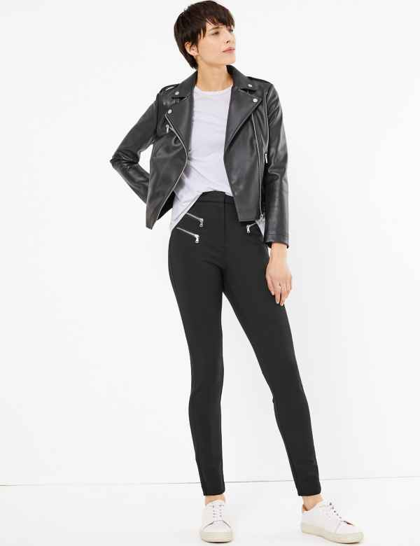 389cede4c3be97 Zipped Pocket Skinny Leg Trousers. Online Only