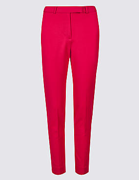 Cotton Blend Slim Leg Chelsea Trousers