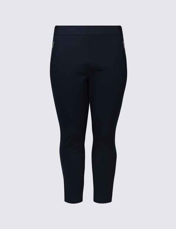2f183797448 CURVE Ponte Slim Leg Trousers