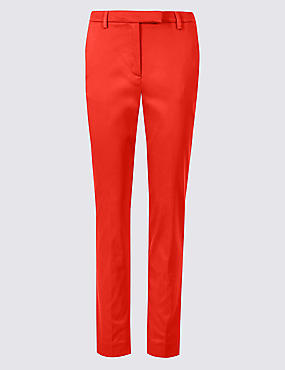 Cotton Rich Slim Leg 7/8 Trousers