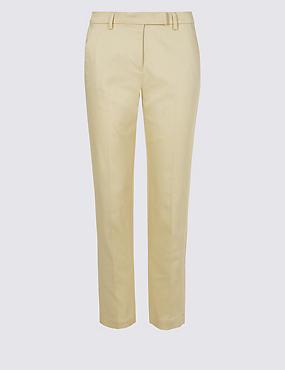 Cotton Rich Slim Leg 7/8 Trousers