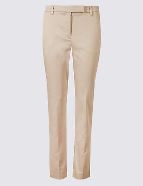 Cotton Rich Slim Leg 7/8th Crop Trousers