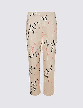 Cotton Rich Slim Leg Cropped Trousers