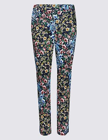 Cotton Rich 7/8th Crop Slim Leg Trousers