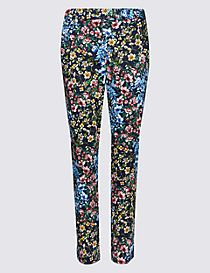 Cotton Rich 7/8th Crop Slim Leg Trousers