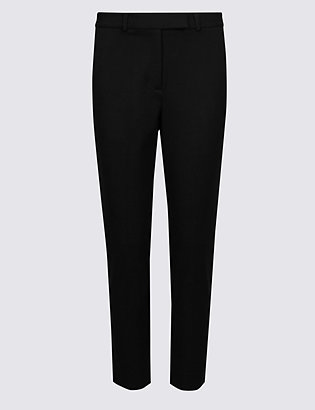Petite Cotton Blend Slim Leg Trousers by Standard Tracked Delivery
