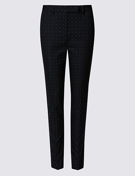 e729a508b398 Product images. Skip Carousel. Spotted Slim Leg Trousers