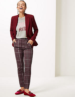 Checked Ankle Grazer Trousers