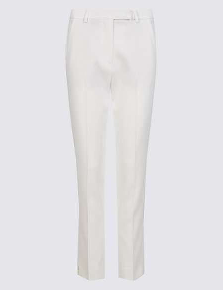 Jacquard Print Slim Leg Trousers