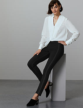 Topstitch Skinny Trousers