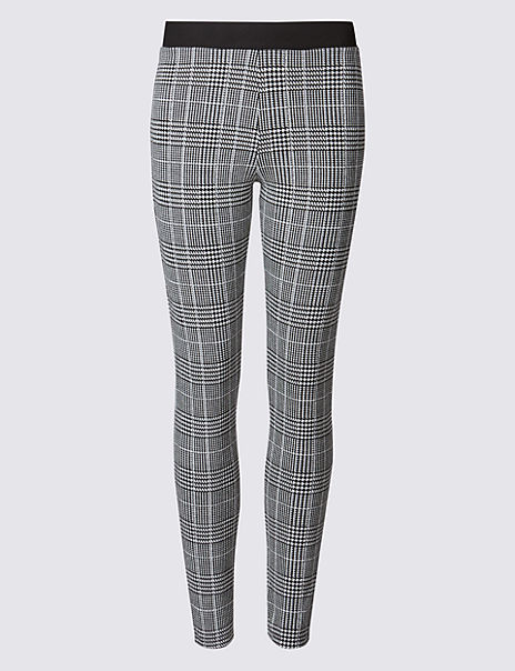 Checked Skinny Trousers