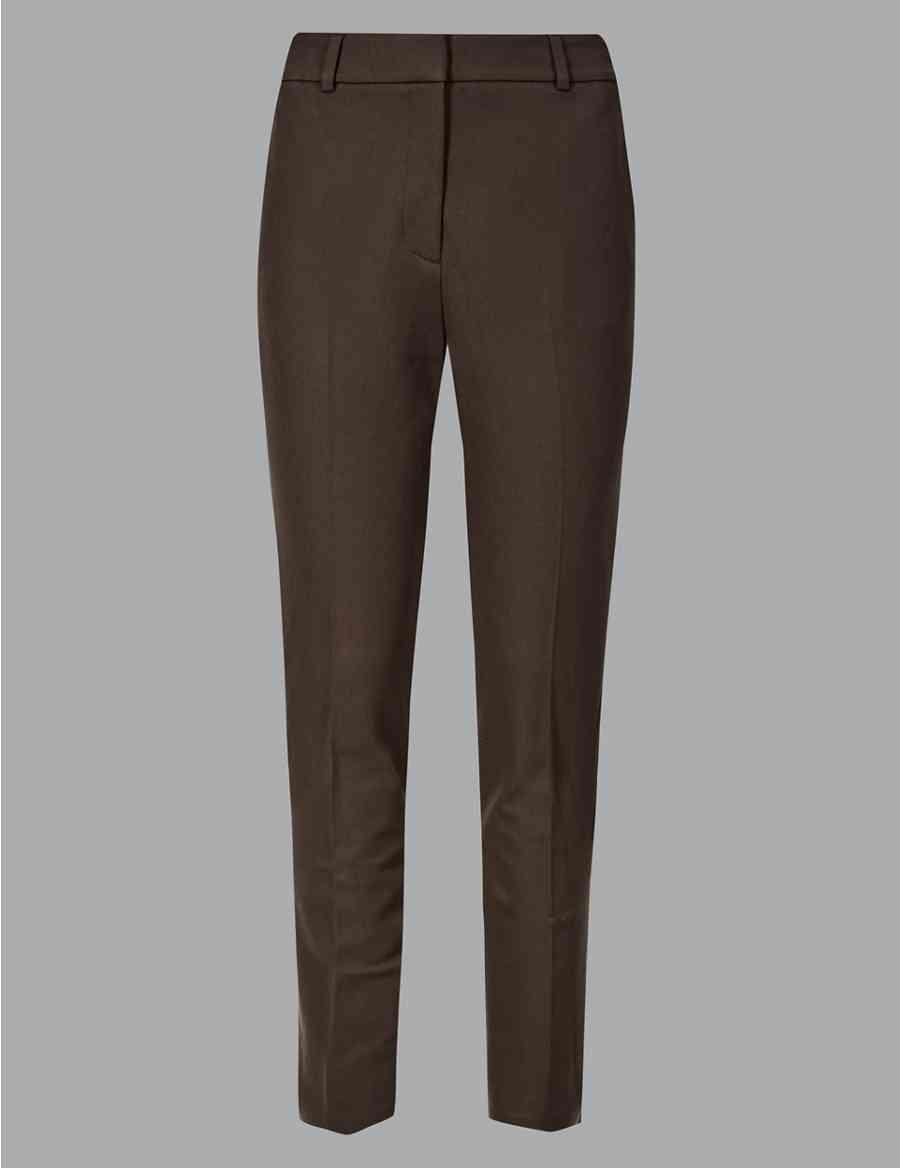 cea41a4657151 Cotton Rich Slim Leg Ankle Grazer Trousers