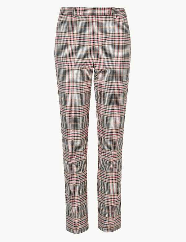 6864c2d4ff21 Mia Slim Checked Ankle Grazer Trousers. M&S Collection