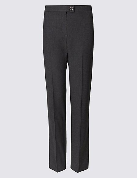 Twill Straight Leg Trousers