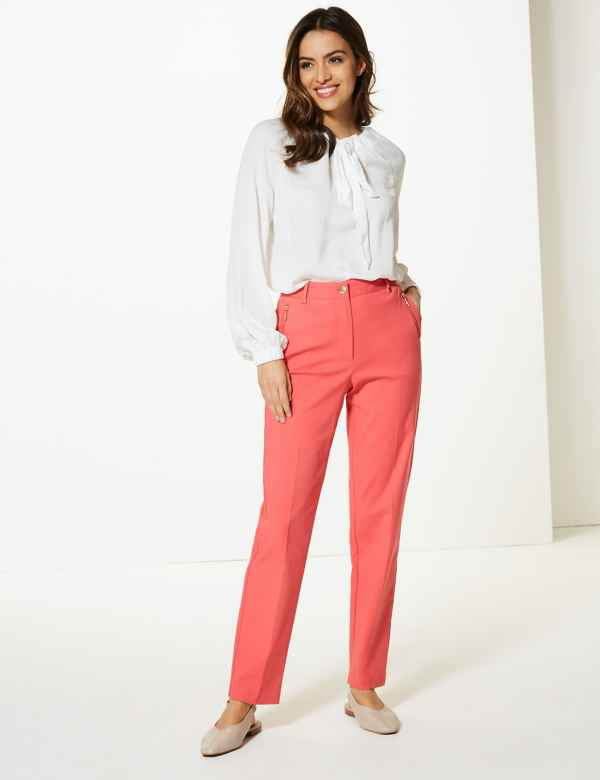 febacb18df7 Straight Leg Cigarette Trousers