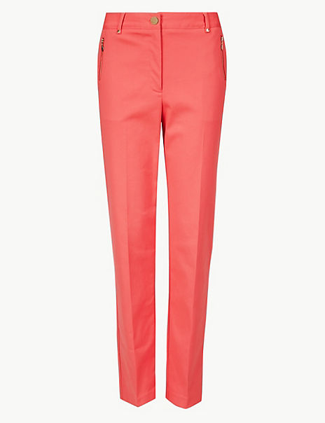Straight Leg Cigarette Trousers