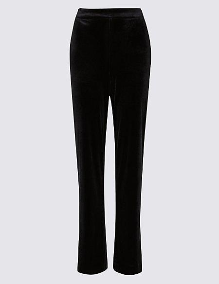Velvet Straight Leg Trousers