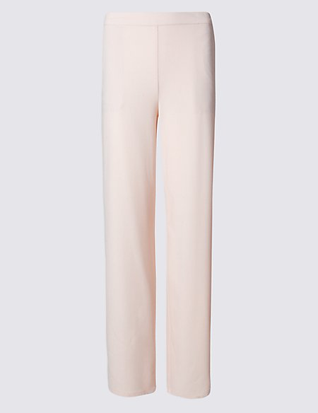 Pull On Wide Leg Trousers