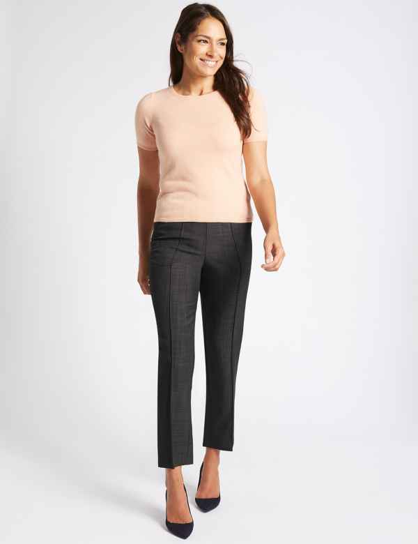 59623b11259a36 Straight Leg Trousers. New to Sale. M&S Collection
