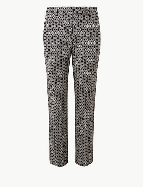 Mia Slim Geometric 7/8th Trousers