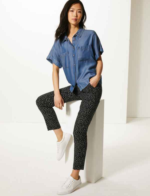 53130e79033 Polka Dot Slim Leg Trousers. New. M S Collection