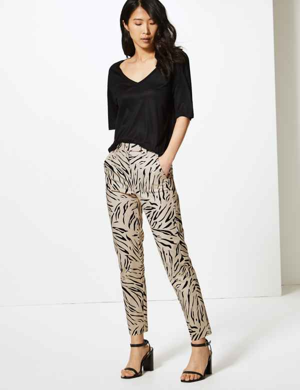 ad0920ff31bdf Mia Slim Animal Print 7/8th Trousers