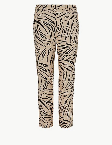 Mia Slim Animal Print 7/8th Trousers