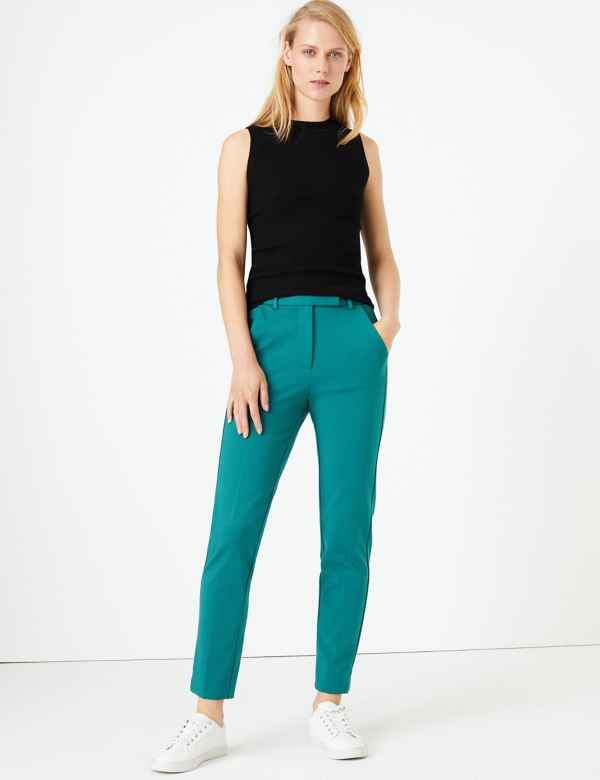 caf131551f3094 Womens Slim Fit Trousers & Leggings | M&S