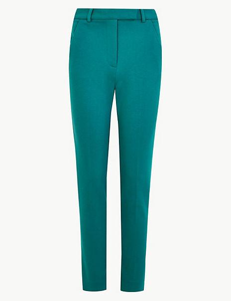 Mia Ponte Slim Ankle Grazer Trousers