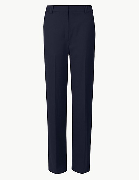 Side Stripe Relaxed Straight Leg Trousers