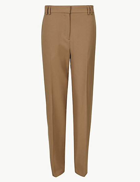 Relaxed Straight Leg Trousers