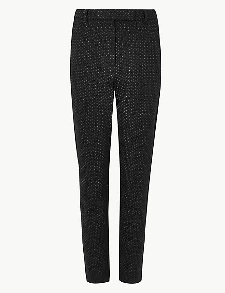 Mia Ponte Spot Ankle Grazer Trousers