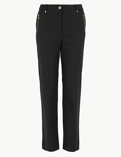 Straight Ankle Grazer Trousers