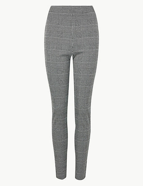 Checked Ankle Grazer Treggings