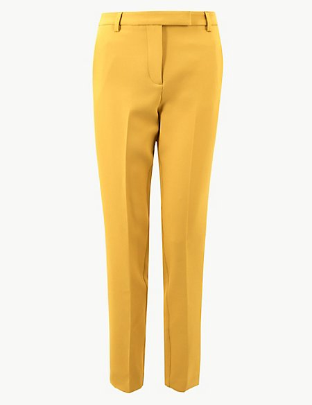 Side Stripe Slim Leg Ankle Grazer Trousers