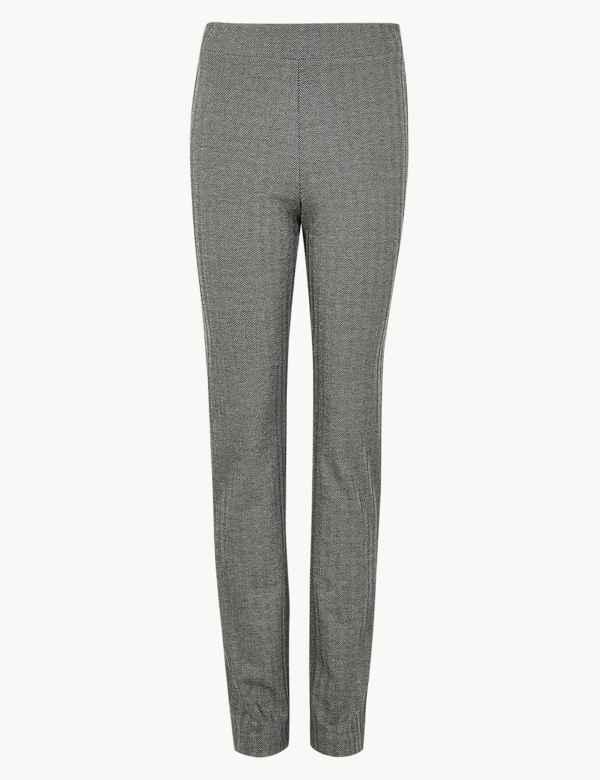 7cd53713b Jersey Herringbone Slim Fit Trousers
