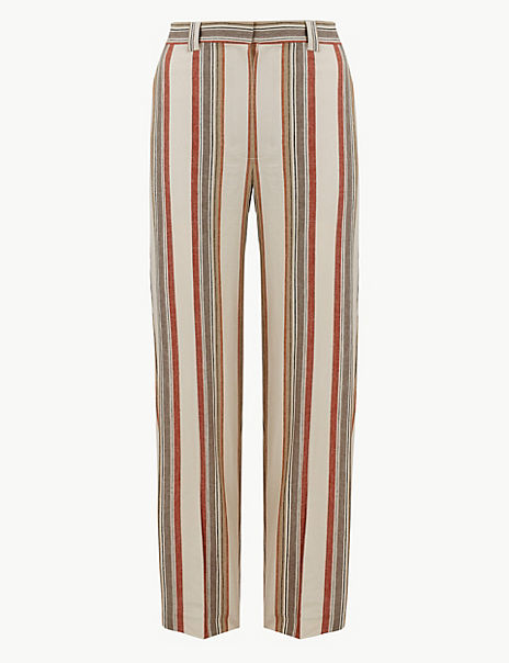 Freya Relaxed Striped Straight Leg Trousers