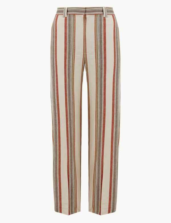 6a1240723e0 Freya Relaxed Striped Straight Leg Trousers