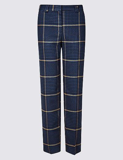 fc1e80fa509 Checked Trousers